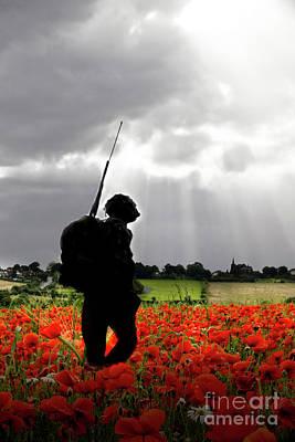 Army Digital Art - Lost Soldier by J Biggadike