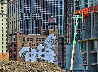 Photograph - Lost Soul Mural - Chicago by Allen Beatty