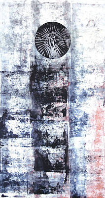 Printmaking Mixed Media - Lost Totem by Charles Mitchell