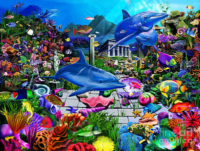 Newton Digital Art - Lost Undersea World by Gerald Newton