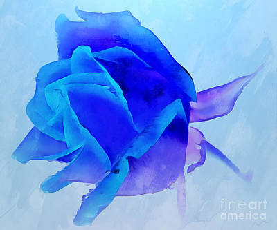 Abstract Rose Digital Art - Lost Without You by Krissy Katsimbras
