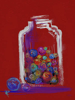 Mixed Media - Lost Your Marbles? by Russell Pierce