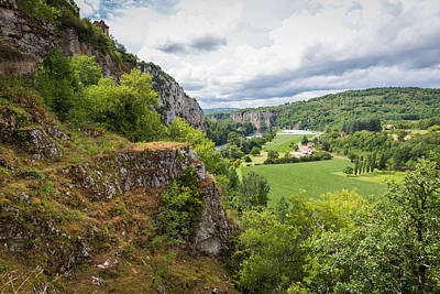 Photograph - Lot River And The Valley At Saint Circ Lapopie by Semmick Photo