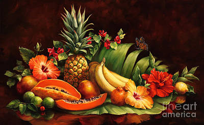 Mango Painting - Lots Of Fruit by Laurie Hein