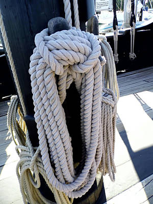 Photograph - Lots Of Rope On The Nina by D Hackett