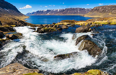 Photograph - Lots Of Water In The West Fjords In Iceland by Matthias Hauser