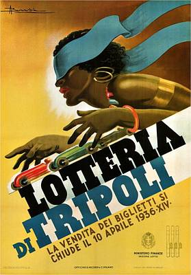 Royalty-Free and Rights-Managed Images - Lotteria Di Tripoli - Vintage Italian Advertising Poster for Lottery by Studio Grafiikka