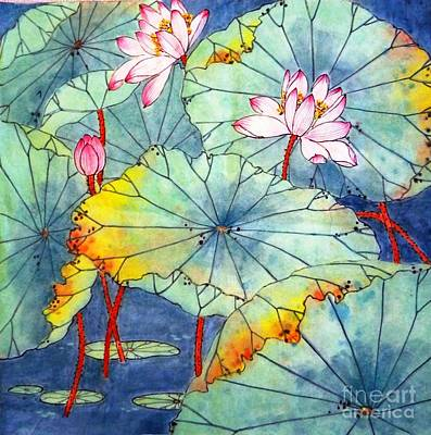 Painting - Lotus #2 by Betty M M Wong
