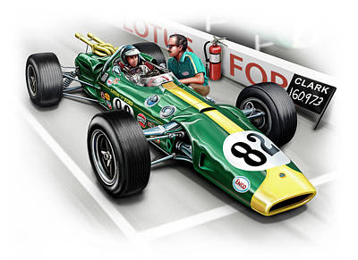 Lotus 38 Indy 500 Winner 1965 Art Print by David Kyte