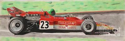 Benetton Wall Art - Drawing - Lotus 72 Reine Wisell by Lorenzo Benetton