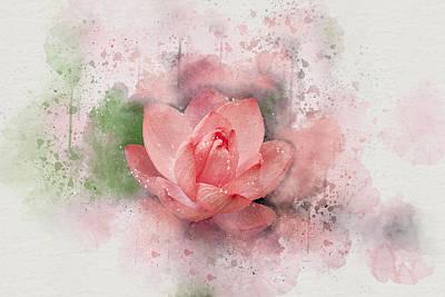 Digital Art - Lotus 8 by Peggy Cooper