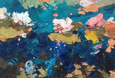 Portofino Italy Painting - Lotus  by Agostino Veroni