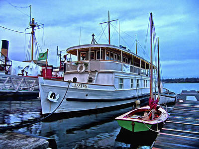 Photograph - Lotus And The Dinghies by Thom Zehrfeld