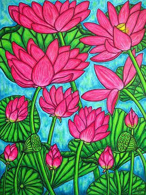 Painting - Lotus Bliss by Lisa  Lorenz