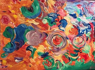 Lotus Blooms Original by Nicki La Rosa