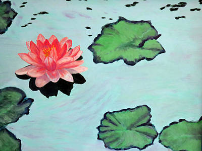 Painting - Lotus Blossom by Vivian Stearns-Kohler