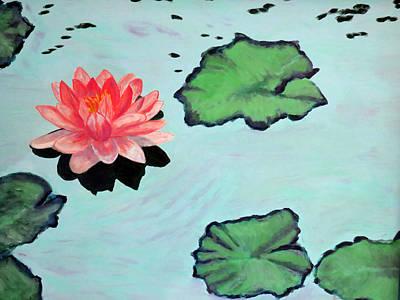 Lotus Blossom Art Print by Vivian Stearns-Kohler