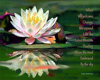 Photograph - Lotus Blossom Wisdom by Michele Avanti