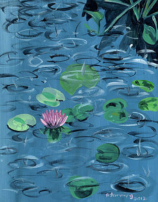 Painting - Lotus by Brenda Stevens Fanning