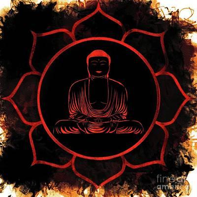 Chakra Painting - Lotus Buddha by Pierre Blanchard