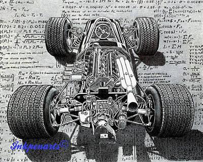 Indy Car Drawing - Lotus by Craig Gripentrog