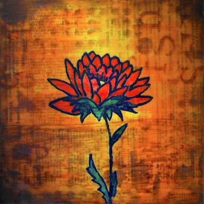 Mixed Media - Lotus by Eliaichi Kimaro