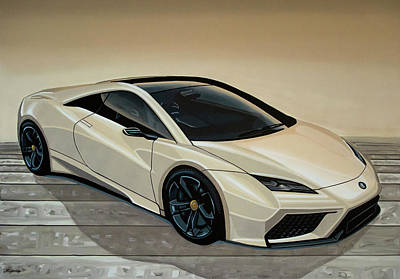 Painting - Lotus Esprit 2014 Painting by Paul Meijering