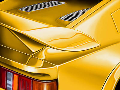 Digital Art - Lotus Esprit Detail by David Kyte
