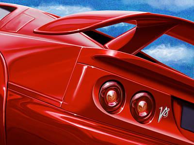 Digital Art - Lotus Esprit V8 by David Kyte