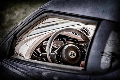 Photograph - Lotus Evora S Steering Wheel -1858ac by Jill Reger