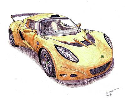 Concept Drawing - Lotus Exige Gt3 by Dan Poll