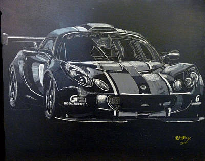 Painting - Lotus Exige Gt3 by Richard Le Page