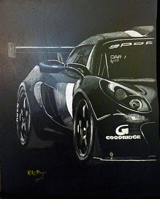 Painting - Lotus Exige Gt3 Side by Richard Le Page