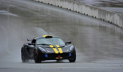 Photograph - Lotus Exige On Wet Track by Mike Martin