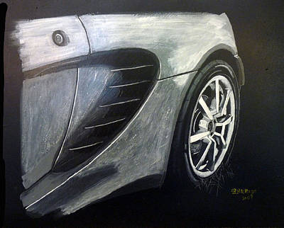 Painting - Lotus Exige Rear Side by Richard Le Page