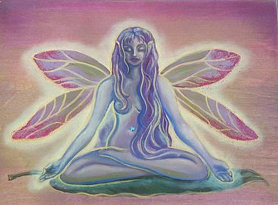 Lotus Faerie Art Print