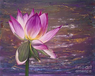 Lotus Flower Art Print by Patty Vicknair