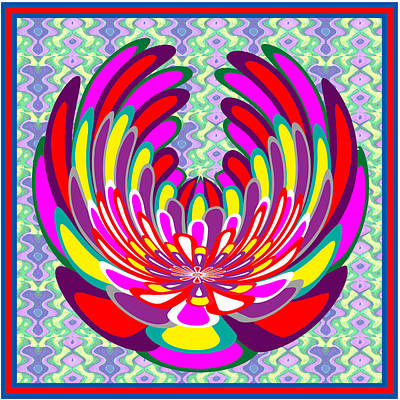 Mixed Media - Lotus Flower Stunning Colors Abstract  Artistic Presentation By Navinjoshi by Navin Joshi
