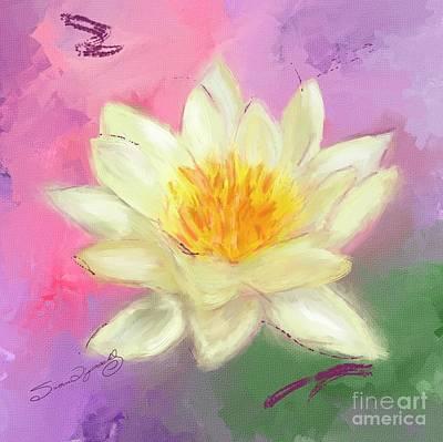 Impressionist Landscapes - Lotus Flower by Susan  Lipschutz
