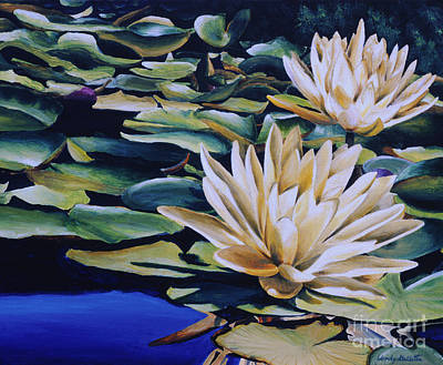Outdoor Still Life Painting - Water Lily Pond by Wendy Galletta