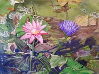 Lotus root paintings fine art america lotus root painting lotus flowers of thailand by jodi higgins mightylinksfo