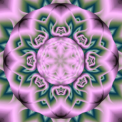 Digital Art - Lotus Fractal Flower by Ruth Moratz