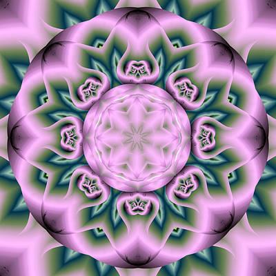 Lotus Fractal Flower Art Print