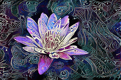 Mixed Media - Lotus From The Mud by Susan Maxwell Schmidt