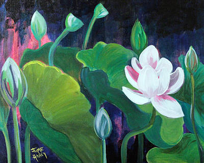 Painting - Lotus Garden 1 by Jaime Haney