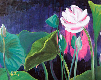 Painting - Lotus Garden 2 by Jaime Haney