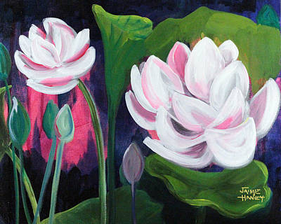 Painting - Lotus Garden 3 by Jaime Haney