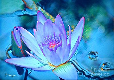 Digital Art - Lotus Heart  by Julie Hoyle
