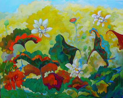 Lotus In The Fall Art Print by Tung Nguyen Hoang