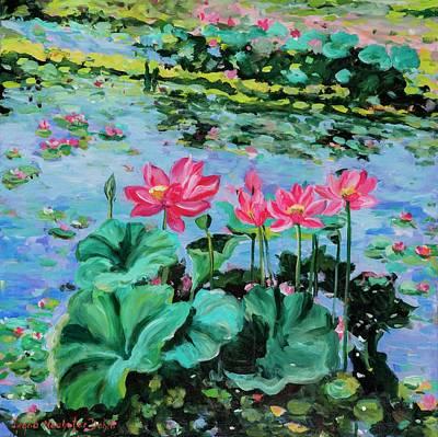 Lotus Art Print by Alexandra Maria Ethlyn Cheshire